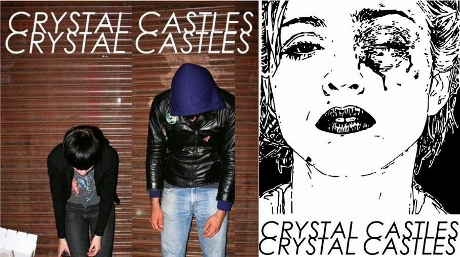 Cd cover research media studies music video a2 the albums original artwork a black and white image of madonna with a black eye with crystal castles written across it was originally going malvernweather Choice Image